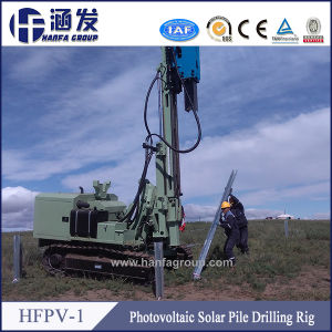 Solar Project Ground Screw Drilling Machine, Hydraulic Crawler Pile Drilling Hfpv-1 pictures & photos