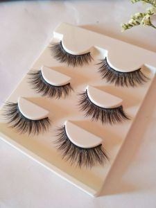 Makeup Tools False Eyelashes Natural Real Hair Handmade Lashes