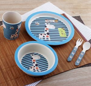 BPA Free Natural Bamboo Fiber Kids Dinner Set (YK-KS0122) pictures & photos