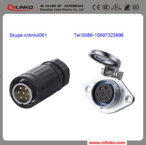 Ya-20 7pin Waterproof Power Connector for LED Display, Audio, Commerce, Entertainment, Stage Equipment, DMX Lighting and Industrial Equipment. pictures & photos