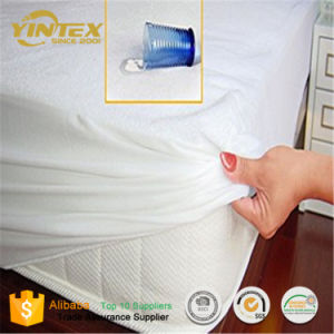 Best Quilted Adult Breathable 100% Cotton Fabric Mattress Protector pictures & photos