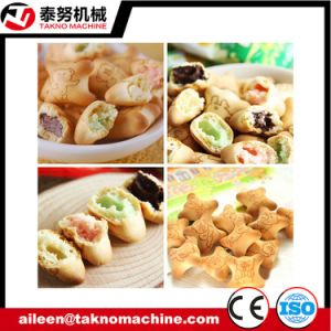 Animal Chocolate Filled Biscuit with Chocolate Filling Snack Food Machine pictures & photos