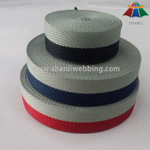 38mm Bicolor Twill Weave Herringbone Polyester Webbing for Slippers Sandals pictures & photos