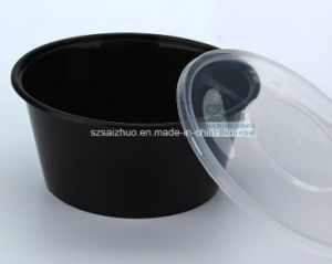1000ml Black Injection Disposable Plastic Soup Bowl pictures & photos