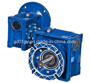 High Quality Aluminum Worm Gearbox with Output Flange pictures & photos