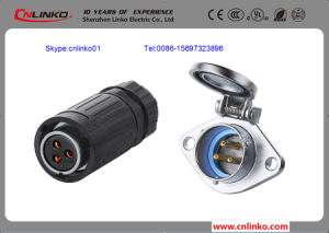 Ce Approved 3 Pin IP67 Power Connector for Audio pictures & photos