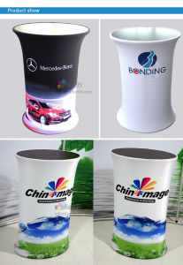 trade show exhibition tension fabric podium display LOGO Brand counters pictures & photos