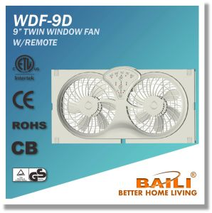 """Popular 9"""" Reversible Twin Window Fan with Remote Control pictures & photos"""