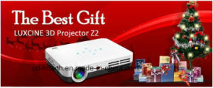 Super Bright 5000lumens 1080P Mini Portable DLP 3D Projector with Surround Speaker