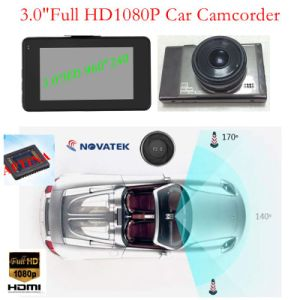 "Slim 3.0"" Full HD1080p Car Black Box Hidden Car DVR Built-in G-Sensor, Motion Detection, WDR, 5.0mega Car Camera Mobile Digital Video Recorder DVR-3011 pictures & photos"