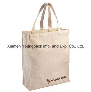 Custom Large Eco Reusable Natural White Organic Cotton Canvas Shopper Bag pictures & photos
