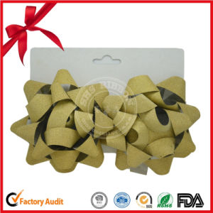 Hot Selling Metallic Christmas Ribbon Star Bow pictures & photos