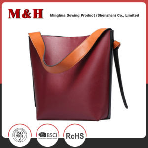 Large Capacity Built-in Handbag Packet Ladies PU Leather Tote Bag pictures & photos
