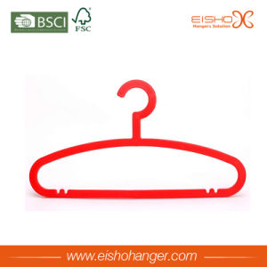 Red Color Superior Plastic Hanger with Non Slip Shoulder pictures & photos