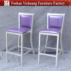 Purple Leather Bar Chair for House Decoration Yc-H003-11 pictures & photos