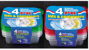 Two Compartments Food Storage Container with Air Tight Lids pictures & photos