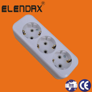 3 Outlets German Power Strip Multi Extension Cord with Ce Approval (E8003E) pictures & photos