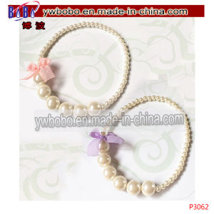 Kids Pearl Necklace Earring Bracelet Set Wedding Pageant (P3067) pictures & photos