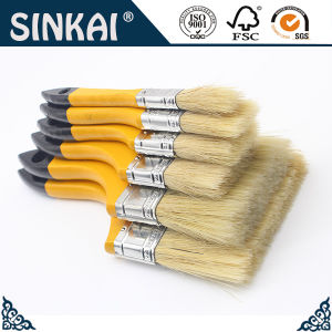 Best Selling Yellow Handle 100% Pur White Bristle Paint Brush pictures & photos