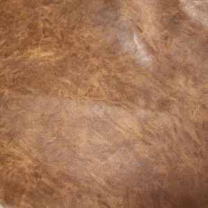 Soft Durable PU Crazy Horse Faux Leather for Shoes Furniture (E6087) pictures & photos