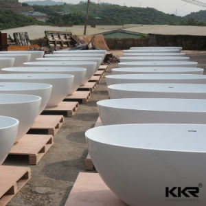 Hot Sale Modern Stone Resin Solid Surface Bathtub pictures & photos