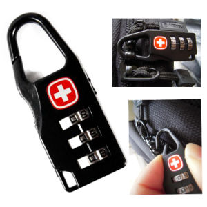 Swiss Cross Lock Luggage Password Lock Travel Bag Padlock Mini Tsa Customs Security Luggage Lock pictures & photos