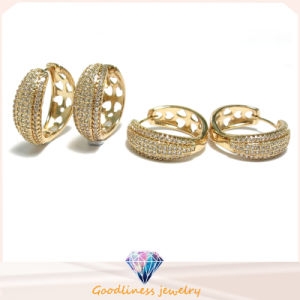 2017 New Fashion Round Women Rhodium Gold Plate Earring (E6826) pictures & photos