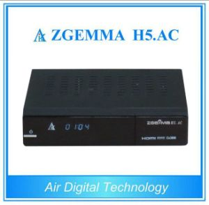 Hevc/H. 265 DVB-S2+ATSC Twin Tuners Zgemma H5. AC Linux OS E2 FTA Digital TV Decoder Box pictures & photos