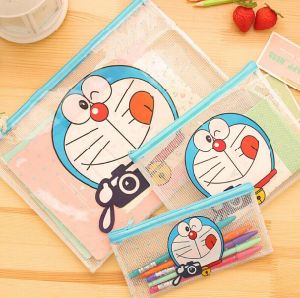 Cute Cartoon Grid Stationery File Bag pictures & photos