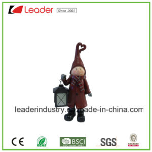 Hot Sale Christmas Santa and Penguin Figurines Candle Holder for Xmas Ornaments pictures & photos