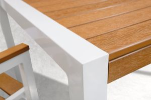 Hot Selling Outdoor Aluminium Frame Polywood Furniture Dining Set pictures & photos