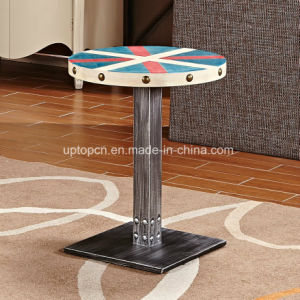 Colourful Round Cafe Restaurant Table with Cast Iron Leg (SP-RT551) pictures & photos