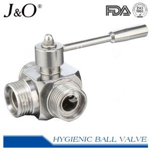 Three-Way Sanitary T-Clamp Direct Mount Ball Valve pictures & photos