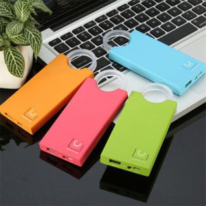 4000mAh Portable Power Bank with Glowing Crystal Ring Mobile Power pictures & photos