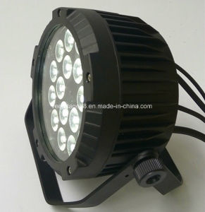 Outdoor 18*15W RGBWA UV LED Slim Flat PAR Light with Wireless pictures & photos