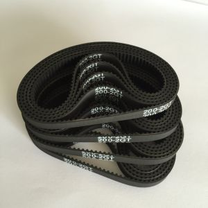 Black Ribbed Rubber Timing Belt for Power Transmission pictures & photos