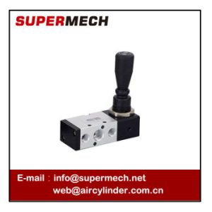 4h Pneumatic Control Hand Push Pull Valve with Nut Type pictures & photos