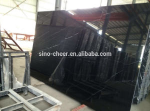 Hot Sale Black Marble Slabs Nero Marquina Black Marble Tile pictures & photos