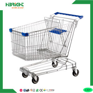 Metal Supermarket Shopping Cart with Baby Seat pictures & photos