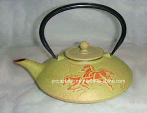 Costomer Design Cast Iron Tea Kettle 0.8L pictures & photos