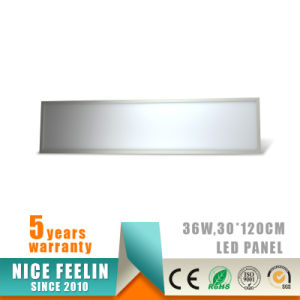 Hanging Installation 100lm/W 30*120cm 36W LED Panel Light pictures & photos