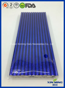 Birthday Party Decoration, Deep Blue Foil Paper Straw pictures & photos