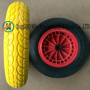 Colorful PU Wheel Used on Wheelbarrow (3.50-8) pictures & photos