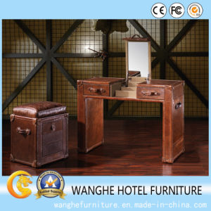 Hotel Furniture Modern Leather Study Writing Desk /Study Table pictures & photos