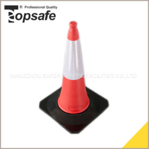 75cm LDPE Fluorescent Two Part Traffic Cone pictures & photos