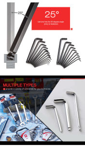 9 PCS SGS Approved Plastic Case Mirror Finish Hex Key Set pictures & photos