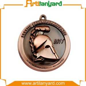 Customized Antique Plating Medal with Ribbon pictures & photos