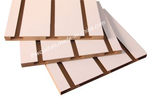 Decorative Melamine MDF Board with Grooves