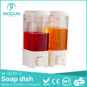 Double ABS Plastic Wall Mounted Liquid Soap Dispenser pictures & photos