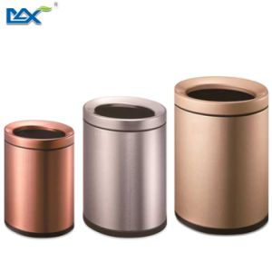 Good Quality Round Anti-Fingerprint Indoor Stainless Steel Dustbin pictures & photos
